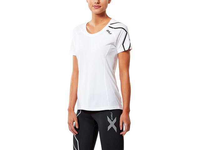 2XU Active Run SS Shirt, white/black